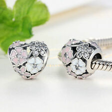 NEW GENUINE PANDORA 1/2 PRICE SALE POETIC BLOOMS HEART CHARM UK SELLER