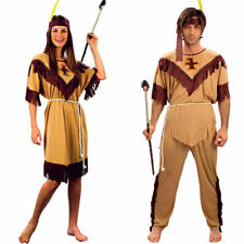 Native American Indian Couples Fancy Dress Costume
