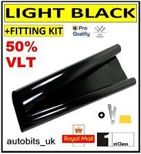 PRO ANTI-SCRATCH CAR WINDOW TINT FILM TINTING LIGHT BLACK  SMOKE 50% 76cm x 3M