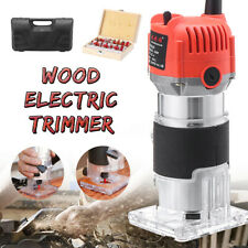 1/4'' Electric Hand Trimmer Wood Mill Engrave Router Joiner Tool 470W 28000RPM
