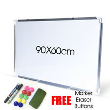 Magnetic Office Board Portable Whiteboard 90X60CM Commercial FREE Marker Eraser