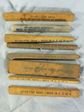 Vintage Lot 8 Sharpening Honing Stones - Fine India - Made In USA