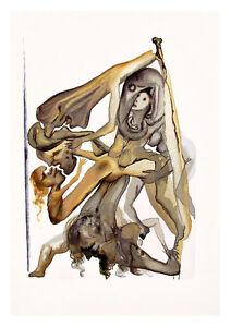 Divine Comedy Inferno 4 by Salvador Dali A4 Art Print