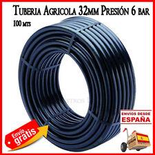 Tuberia 32mm polietileno Agricola 6bar. Tuberia 100 mts. Tubo goma riego 32 mm