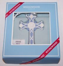 Lovely Wedgwood Blue Jasperware Christmas Cross Ornament In Box