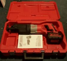 Milwaukee V28 Sawzall Lithium-ion 2-speed W/ battery & case & paperwork 0719-20