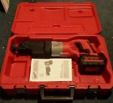 Milwaukee V28 Sawzall Lithium-ion 2-speed W/ battery & case & paperwork 0719-20