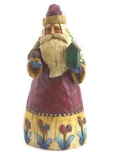 Jim Shore Heartwood Creek Santa with Bird House Chrismas Ornament Table Decor