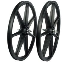"24"" Skyway Tuff Wheel 2 Mag WHEELSET Black 24"" wheel set BLACK 7 T SPOKE"