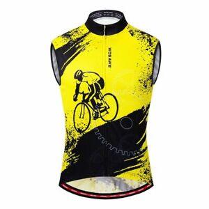 Men Summer Cycling Vest MTB Road Bike Sleeveless Shirt Quick Dry Gilet Jerseys