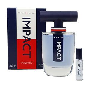 Tommy Hilfiger Impact 100ml EDT+4ml Voyage Spray Set Neuf / Emballage D'Origine