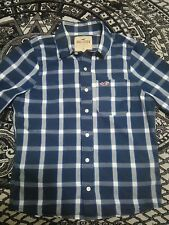 Hollister Flannel blue square shirt size small