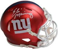 Eli Manning signed New York Giants Riddell Blaze Speed Mini Helmet- Steiner Holo