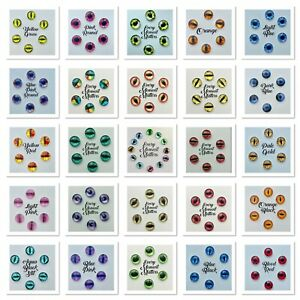 10 x 12mm CATS EYES DRAGONS EYES CABOCHONS GLASS FLAT BACK COLOUR COORDINATED