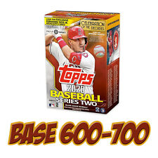 2020 Topps Series 2 Baseball Cards BASE SET Single Card *PICK A PLAYER* #600-700