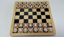 Schach Brettspiel Schachbrett NEU Bambus Holz 2in1 Dame