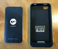 Mophie Juice Pack Air Apple iPhone 4 & 4s Power Pack Battery Case Black & Silver