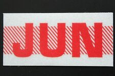 Old School 60's, 70's RED/WHITE Vintage Style CALIFORNIA MONTH STICKER. JUNE