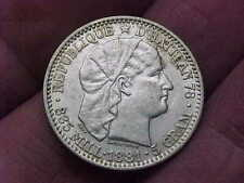Nice 1881 Haiti 20 Centimes 1/5 Gourde Silver Coin Vf Xf