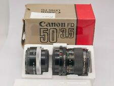 Canon FD 50mm F3.5 Macro Prime Lens For SLR/Mirrorless Cameras *Fungus*