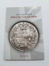1855 - 1924 GREAT BRITISH ONE SHILLING COIN HUNT COLLECTORS ALBUM