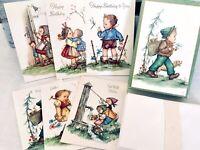 "Vintage Box of Greeting Cards ""Little Sweethearts"" Unused 20 ""Hummel Style"""