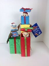Rare Santa's Best Animated Alvin & The Chipmunks Christmas Present Plush Display