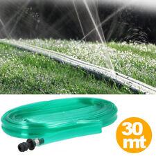 Tubo Piatto Microforato 30 Mt Irrigazione Giardino Piante Esterno con Connettore