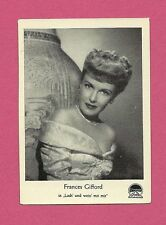 Frances Gifford Vintage Movie Film Star German Card