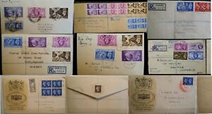 GB KG VI 1936-1952 Covers Plain FDC Olympic Festival UPU Meter Slogans Multi