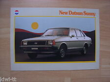 Nissan Australia Datsun Sunny (B310) Prospekt / Brochure, 4.1980, selten!