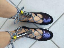 scarpe sneakers ballerine donna Jeannot n.39 blu