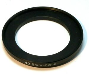 40.5mm to 52mm Step-up ring Metal adapter  double threaded for lens filter