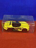 Hot Wheels Loose Dodge Viper Yellow Flames Convertible PROTECTIVE CASE
