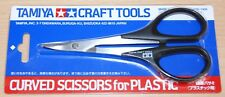 Tamiya 74005 Curved Scissors for Plastic (Lexan/Polycarbonate Bodies), NIP