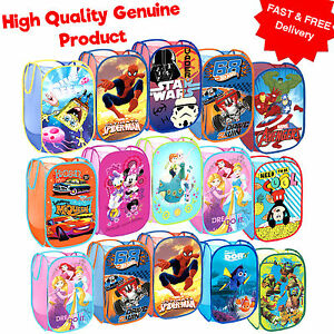 Genuine DISNEY MARVEL Pop Up Laundry Basket Children Bedroom Toys Storage