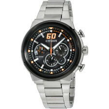Citizen Eco-Drive Stainless Steel Black Dial Silver Men's Watch CA4134-55E