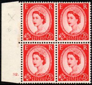 1955 Sg 544 2½d carmine-red St Edward's Crown Cylinder 32 (dot) Mounted Mint