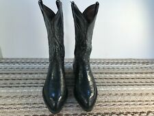 Tony Lama, Black Smooth Ostrich, Mens Size 10Ee