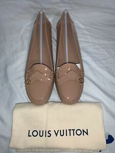 New Louis Vuitton LV Monogram Leather Oxford Loafers Flats 38.5 8 8.5 Moccasins