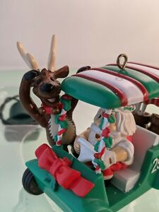 "NOMA Ornamotion ""Fore""  Golfing Santa Christmas Ornament"