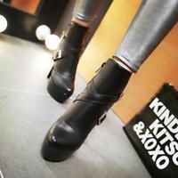 New Womens Ankle Strap Buckle Zip Boots Platform Stiletto High Heels pumps Shoes