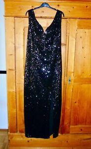 Pailletten Abendkleid, lang in Schwarz 44 von Bodyflirt Boutique