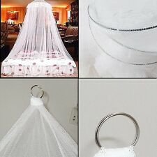 Double Single Queen Canopy Bed Curtain Dome Stop Mosquito Net Midges UP