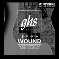 GHS 3060-5 Black Nylon Tapewound Bass Strings - 5-String Set Medium