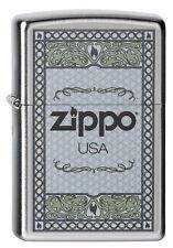 ZIPPO Feuerzeug ZIPPO USA FRAME 2 Logo Rahmen Ornamente NEU OVP Sammlerstück!!