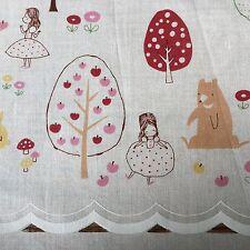 Kokka By Trefle Japanese Fabric, Premade Cafe Curtains, Woodland Fairytale Theme