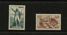 "France 1936  #309-10  ""La Marseillaise"" composer music  2v.  MNH  K511"