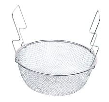 Two Handle 8.5'' Stainless Steel Deep Frying Mesh Basket E012