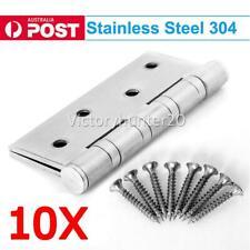 10X STAINLESS STEEL DOOR HINGES 304 grade 100x75x2.5mm BUTT HINGE Heavy duty AA